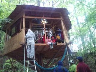 ツリーハウスのワークショップに参加してきた。森と地球に感謝!