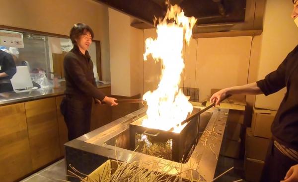 藁焼き体験