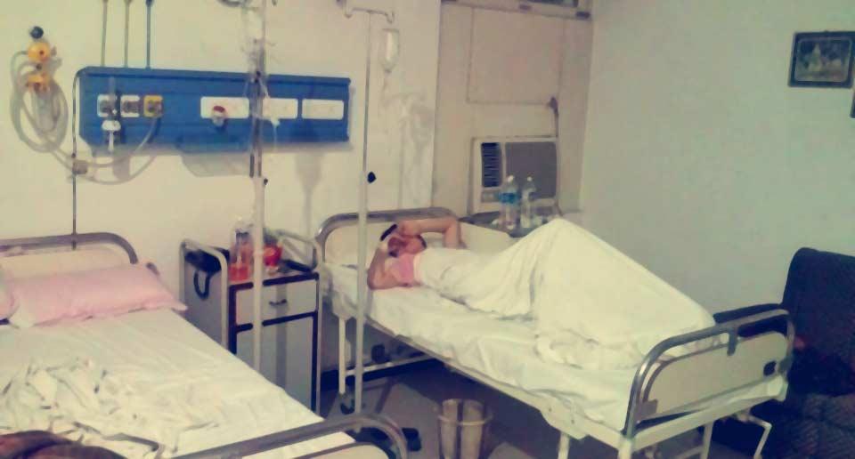 インドで入院