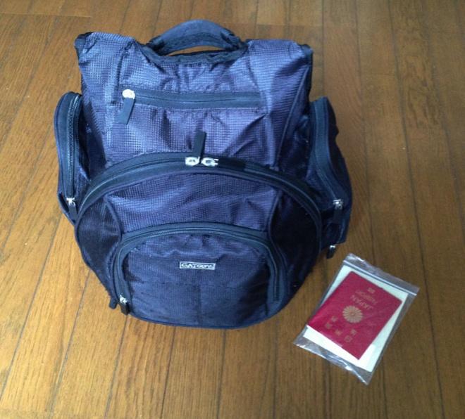 旅の持ち物…身軽に移動するためにも極力荷物は減らす