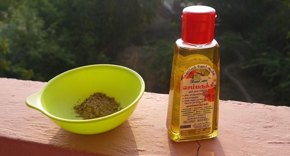 ハーバルヘアオイルとシカカイ。髪と地球にやさしいインド式洗髪方法