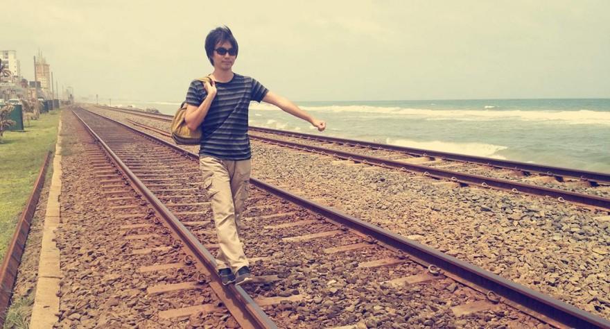 スリランカ、コロンボの線路