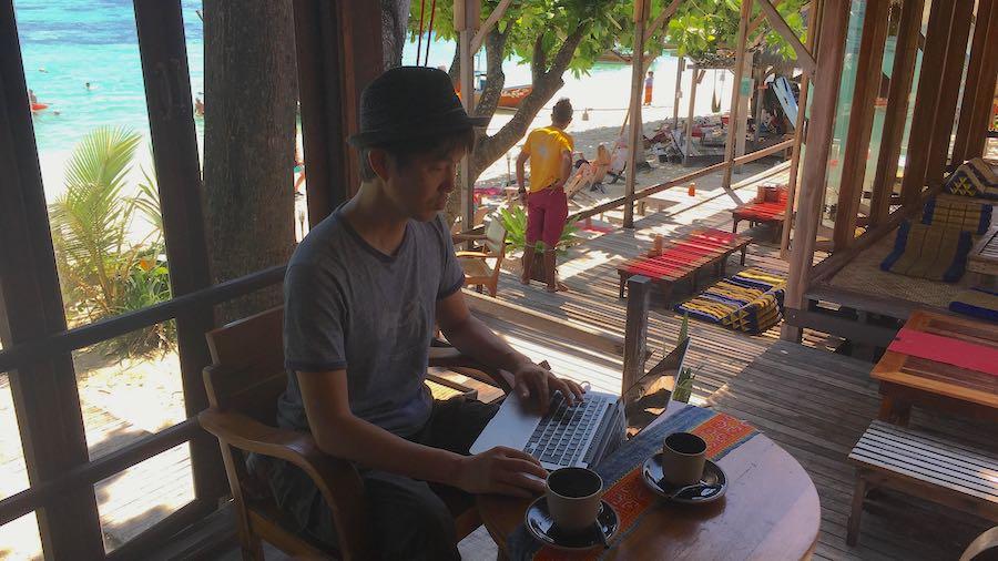 タイの島でリモートワーク