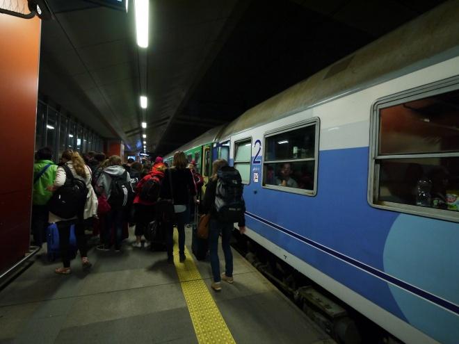 ポーランドのクラクフから夜行列車でチェコのプラハへ