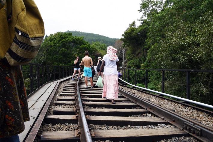 線路の鉄橋