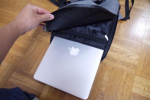 Minz Thin Pack に MacBookを入れる