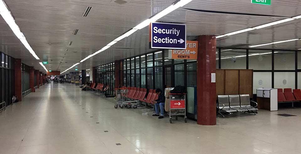 シャージャラル国際空港で寝る