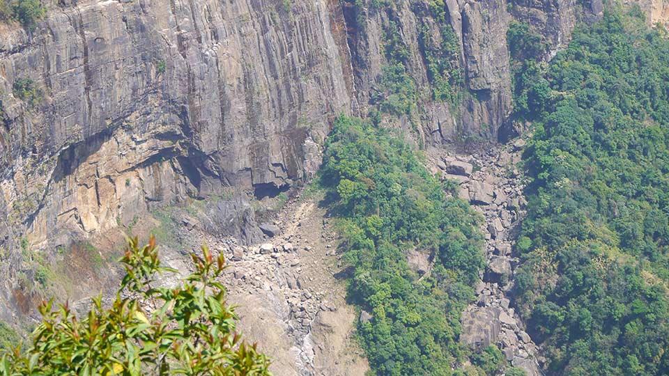 ノースンジティアンの滝の絶景