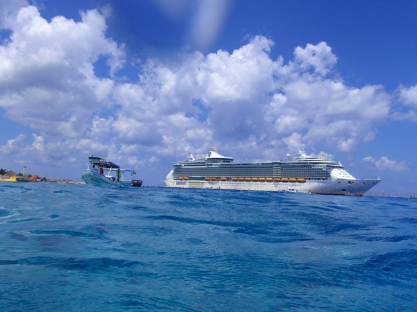 カンクン~コスメル。カリブの海にドボン