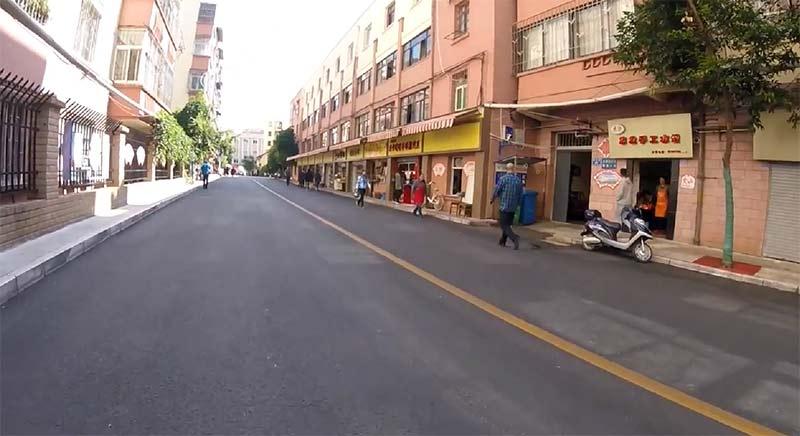 中国の街はきれい