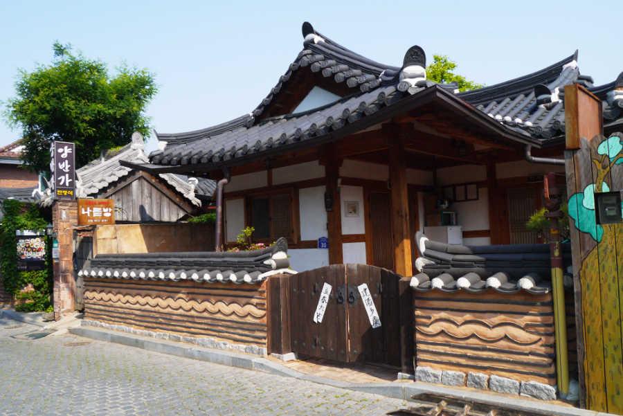 韓国全州の韓屋村の宿