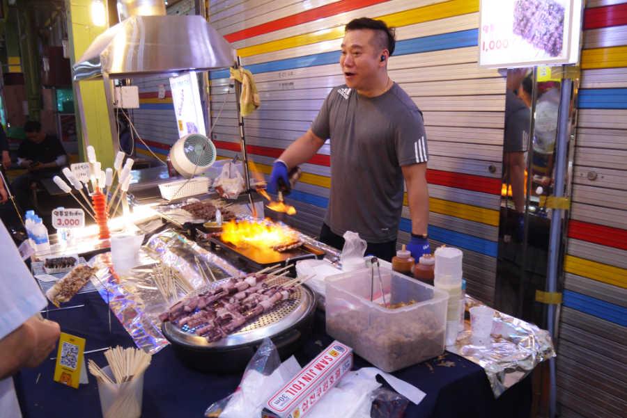 韓国全州の南部市場・青年モール
