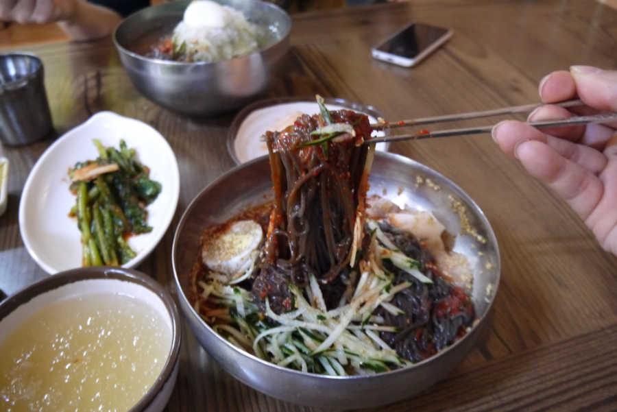 韓国全州のグルメ ビビン冷麺