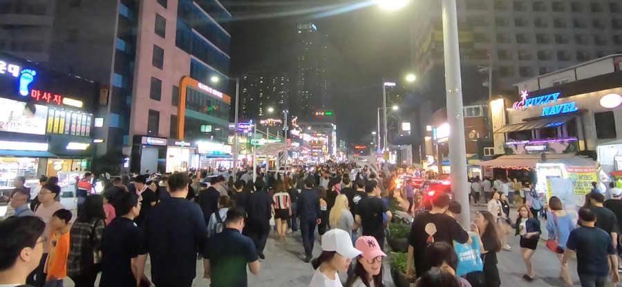 韓国釜山 海雲台メインストリート
