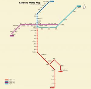 昆明地下鉄マップ