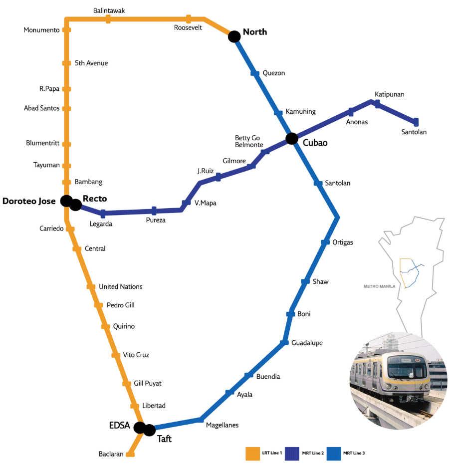 Manila Metro Rail Map