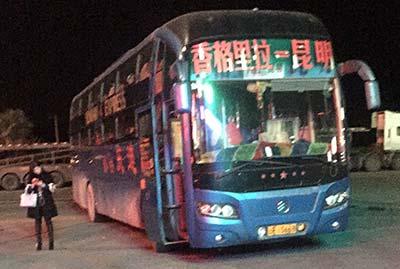 中国 夜行寝台バス