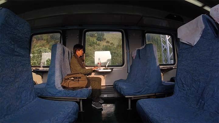 昆明から河口への列車