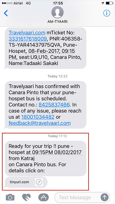インドのバス予約サイト Travelyaari
