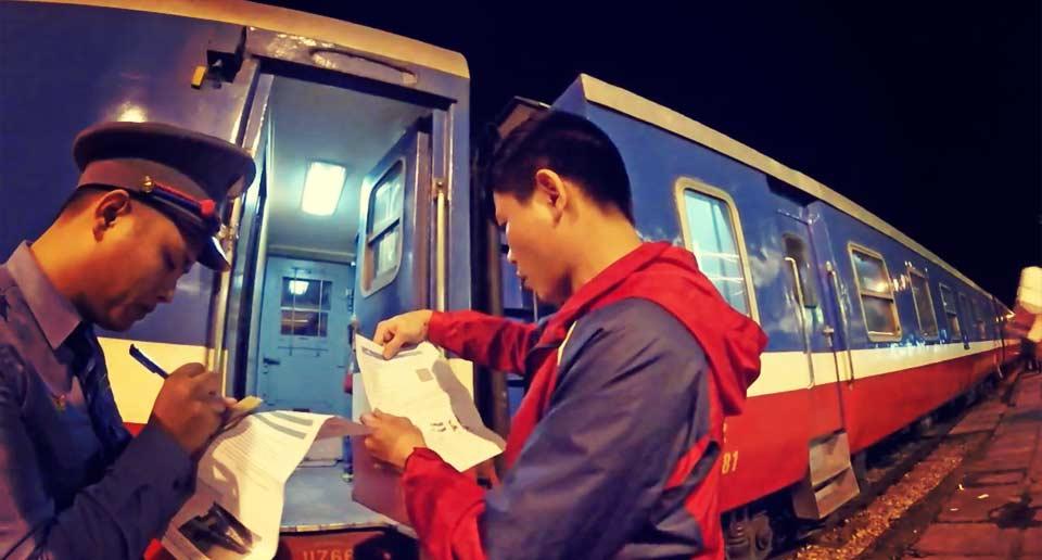 ベトナムの列車