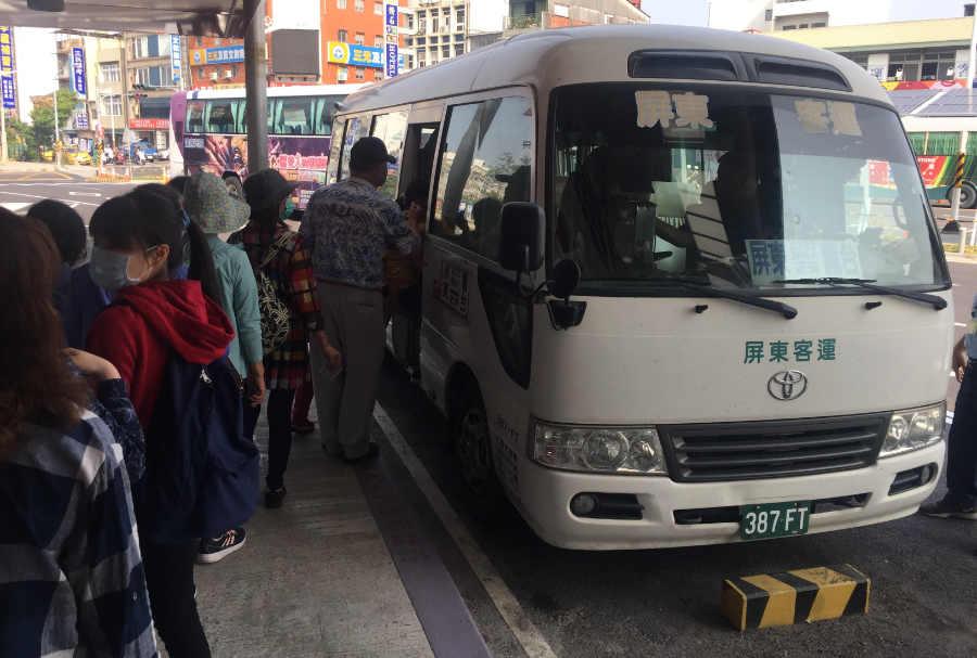 屏東バスターミナル・霧台行きのバスに乗車