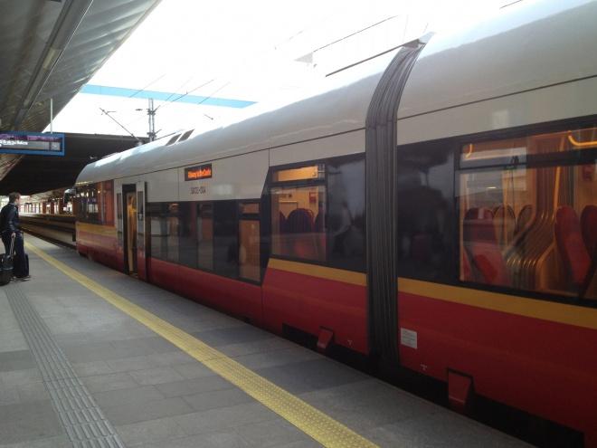 クラクフ空港からの列車