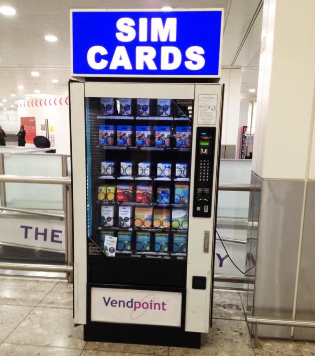 ロンドンでSIMカード購入