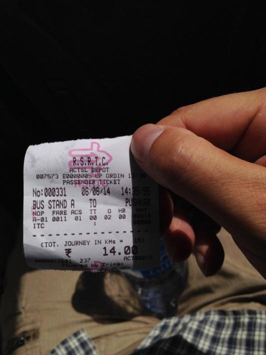 プシュカルへのバス