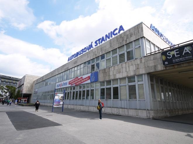 ブラチスラヴァのバスターミナル